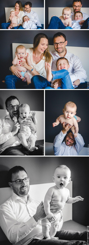une séance photo en famille pour s'amuser